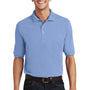 Port Authority Mens Short Sleeve Polo Shirt w/ Pocket - Light Blue