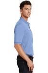 Port Authority K420P Mens Short Sleeve Polo Shirt w/ Pocket Light Blue Side