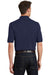 Port Authority K420P Mens Short Sleeve Polo Shirt w/ Pocket Navy Blue Back
