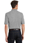 Port Authority K420P Mens Short Sleeve Polo Shirt w/ Pocket Oxford Grey Back