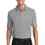 Port Authority Mens Short Sleeve Polo Shirt w/ Pocket - Oxford Grey