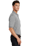 Port Authority K420P Mens Short Sleeve Polo Shirt w/ Pocket Oxford Grey Side