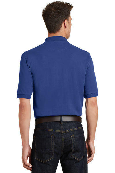 Port Authority K420P Mens Short Sleeve Polo Shirt w/ Pocket Royal Blue Back