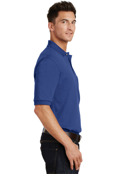 Port Authority K420P Mens Short Sleeve Polo Shirt w/ Pocket Royal Blue Side