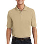 Port Authority Mens Short Sleeve Polo Shirt w/ Pocket - Stone - Closeout