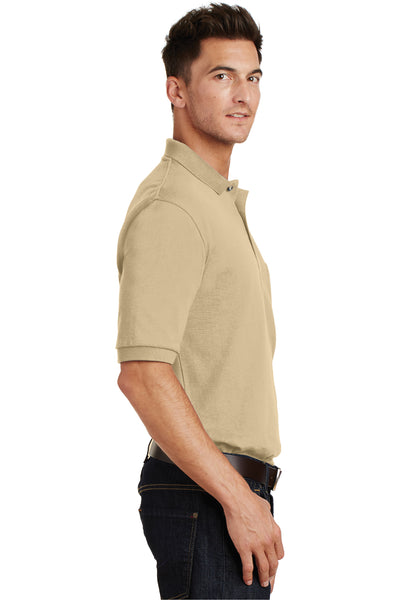 Port Authority K420P Mens Short Sleeve Polo Shirt w/ Pocket Stone Brown Side