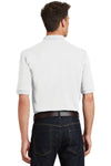 Port Authority K420P Mens Short Sleeve Polo Shirt w/ Pocket White Back