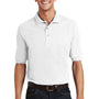 Port Authority Mens Short Sleeve Polo Shirt w/ Pocket - White