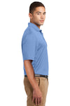 Sport-Tek K469 Mens Dri-Mesh Moisture Wicking Short Sleeve Polo Shirt Blueberry Side
