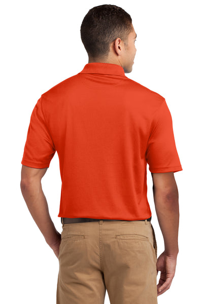 Sport-Tek K469 Mens Dri-Mesh Moisture Wicking Short Sleeve Polo Shirt Orange Back