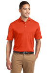 Sport-Tek K469 Mens Dri-Mesh Moisture Wicking Short Sleeve Polo Shirt Orange Front