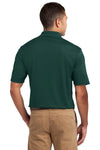 Sport-Tek K469 Mens Dri-Mesh Moisture Wicking Short Sleeve Polo Shirt Dark Green Back