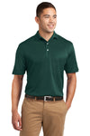 Sport-Tek K469 Mens Dri-Mesh Moisture Wicking Short Sleeve Polo Shirt Dark Green Front