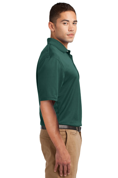 Sport-Tek K469 Mens Dri-Mesh Moisture Wicking Short Sleeve Polo Shirt Dark Green Side