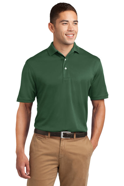 Sport-Tek K469 Mens Dri-Mesh Moisture Wicking Short Sleeve Polo Shirt Forest Green Front