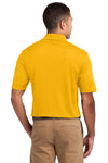 Sport-Tek K469 Mens Dri-Mesh Moisture Wicking Short Sleeve Polo Shirt Gold Back