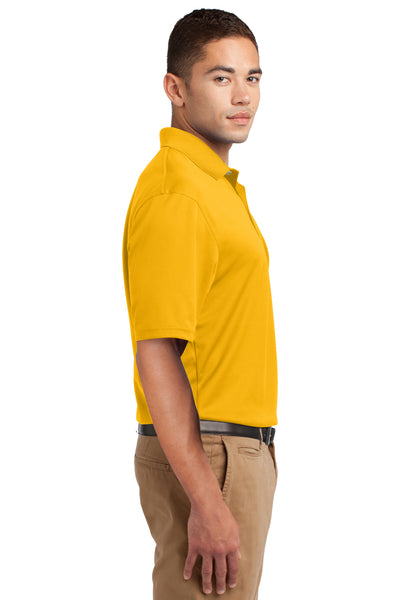 Sport-Tek K469 Mens Dri-Mesh Moisture Wicking Short Sleeve Polo Shirt Gold Side