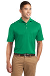Sport-Tek K469 Mens Dri-Mesh Moisture Wicking Short Sleeve Polo Shirt Kelly Green Front