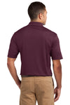 Sport-Tek K469 Mens Dri-Mesh Moisture Wicking Short Sleeve Polo Shirt Maroon Back
