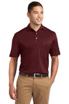 Sport-Tek K469 Mens Dri-Mesh Moisture Wicking Short Sleeve Polo Shirt Maroon Front