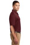 Sport-Tek K469 Mens Dri-Mesh Moisture Wicking Short Sleeve Polo Shirt Maroon Side