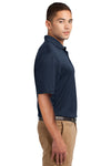 Sport-Tek K469 Mens Dri-Mesh Moisture Wicking Short Sleeve Polo Shirt Navy Blue Side