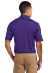 Sport-Tek K469 Mens Dri-Mesh Moisture Wicking Short Sleeve Polo Shirt Purple Back