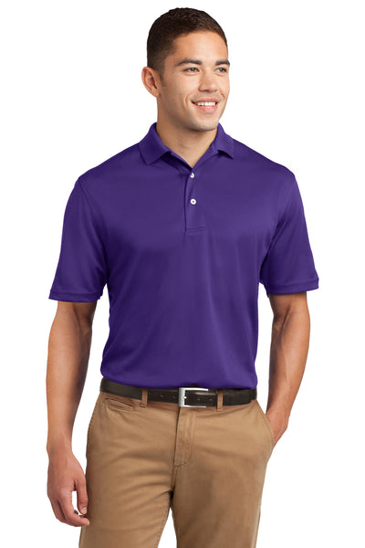 Sport-Tek K469 Mens Dri-Mesh Moisture Wicking Short Sleeve Polo Shirt Purple Front