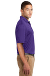 Sport-Tek K469 Mens Dri-Mesh Moisture Wicking Short Sleeve Polo Shirt Purple Side