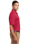 Sport-Tek K469 Mens Dri-Mesh Moisture Wicking Short Sleeve Polo Shirt Red Side