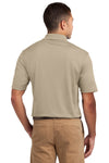 Sport-Tek K469 Mens Dri-Mesh Moisture Wicking Short Sleeve Polo Shirt Sandstone Brown Back