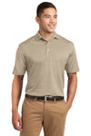 Sport-Tek K469 Mens Dri-Mesh Moisture Wicking Short Sleeve Polo Shirt Sandstone Brown Front