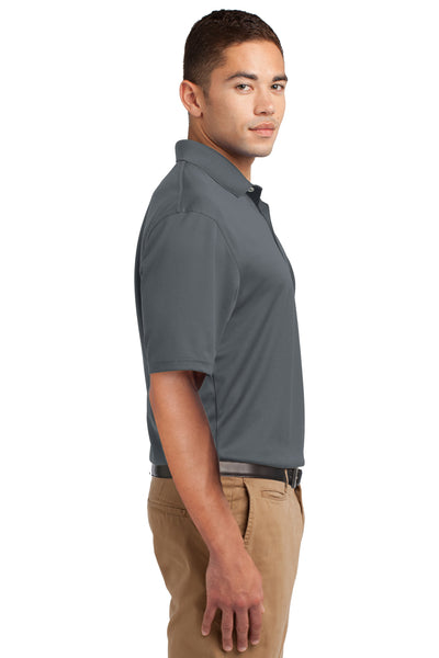 Sport-Tek K469 Mens Dri-Mesh Moisture Wicking Short Sleeve Polo Shirt Steel Grey Side