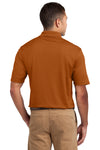 Sport-Tek K469 Mens Dri-Mesh Moisture Wicking Short Sleeve Polo Shirt Texas Orange Back