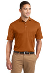 Sport-Tek K469 Mens Dri-Mesh Moisture Wicking Short Sleeve Polo Shirt Texas Orange Front