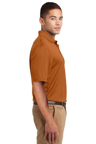 Sport-Tek K469 Mens Dri-Mesh Moisture Wicking Short Sleeve Polo Shirt Texas Orange Side