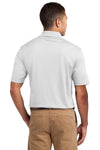 Sport-Tek K469 Mens Dri-Mesh Moisture Wicking Short Sleeve Polo Shirt White Back