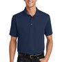Port Authority Mens Moisture Wicking Short Sleeve Polo Shirt - Navy Blue - Closeout