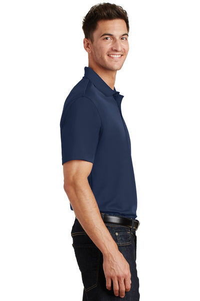 Port Authority K497 Mens Moisture Wicking Short Sleeve Polo Shirt Navy Blue Side