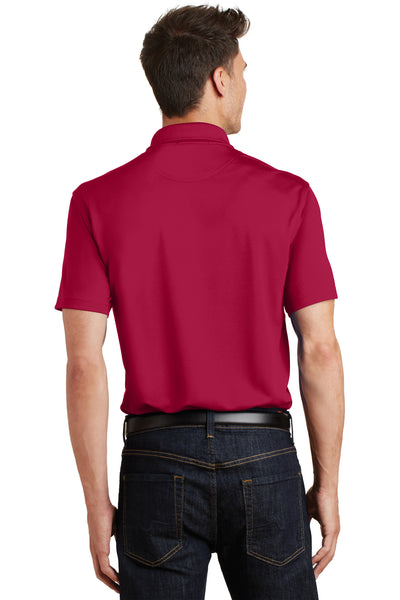 Port Authority K497 Mens Moisture Wicking Short Sleeve Polo Shirt Red Back