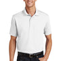Port Authority Mens Moisture Wicking Short Sleeve Polo Shirt - White - Closeout
