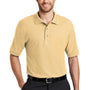 Port Authority Mens Silk Touch Wrinkle Resistant Short Sleeve Polo Shirt - Banana Yellow