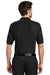 Port Authority K500 Mens Silk Touch Wrinkle Resistant Short Sleeve Polo Shirt Black Back