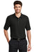 Port Authority K500 Mens Silk Touch Wrinkle Resistant Short Sleeve Polo Shirt Black Front