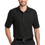 Port Authority Mens Silk Touch Wrinkle Resistant Short Sleeve Polo Shirt - Black