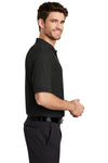 Port Authority K500 Mens Silk Touch Wrinkle Resistant Short Sleeve Polo Shirt Black Side