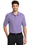 Port Authority K500 Mens Silk Touch Wrinkle Resistant Short Sleeve Polo Shirt Lavender Purple Front