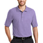 Port Authority Mens Silk Touch Wrinkle Resistant Short Sleeve Polo Shirt - Bright Lavender Purple