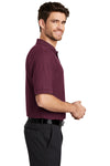 Port Authority K500 Mens Silk Touch Wrinkle Resistant Short Sleeve Polo Shirt Burgundy Side