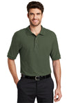 Port Authority K500 Mens Silk Touch Wrinkle Resistant Short Sleeve Polo Shirt Clover Green Front
